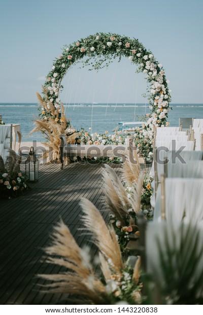 Wedding Decoration Beach Coast Stock Photo (Edit Now) 1443220838