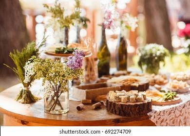 Wedding decoration ceremony. Cheese bar