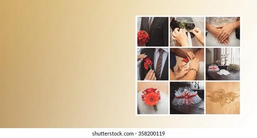 Wedding decoration collage