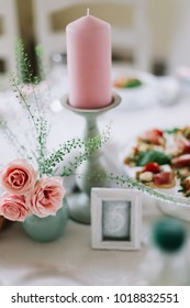 Wedding decoration. Wedding inspiration. Wedding decorations for table in rustic style. Wedding background