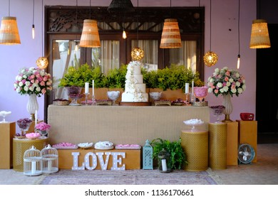 Wedding decoration on table