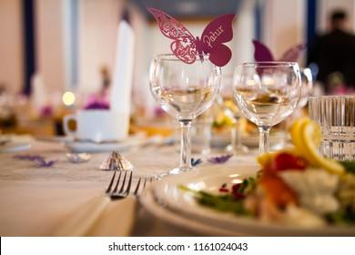 Wedding decorations in a wedding