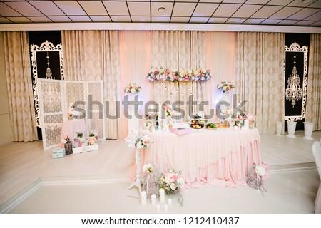 Wedding Decorations Accessories Stock Photo Edit Now 1212410437