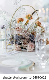 Wedding decorations. Floral design of the registration area and banquet hall