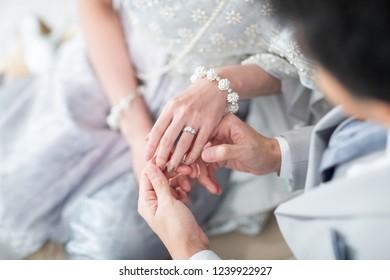 Wedding Diamond Ring Asian Culture Ceremony Jewelry Fashion Design