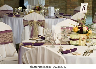 wedding or dinner table place setting
