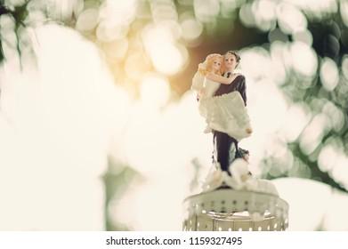 wedding doll cake, love couple, happy concept, wedding cake