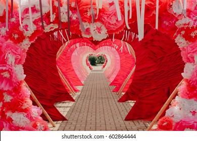 wedding door ceremony with heart shape