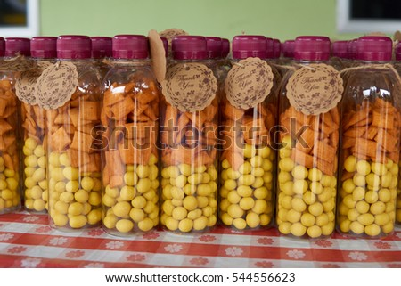 Wedding Doorgift Ideas Peanuts Bottle Stock Photo Edit Now