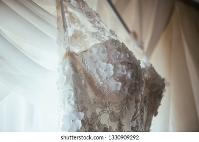 Wedding dress of the bride