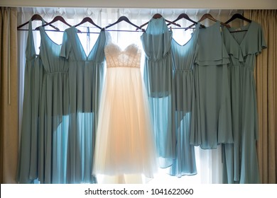 Wedding Dress and Bridesmaid Dresses