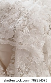Wedding dress detail - close up photo