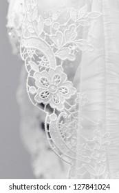 Wedding dress handmade embroidery