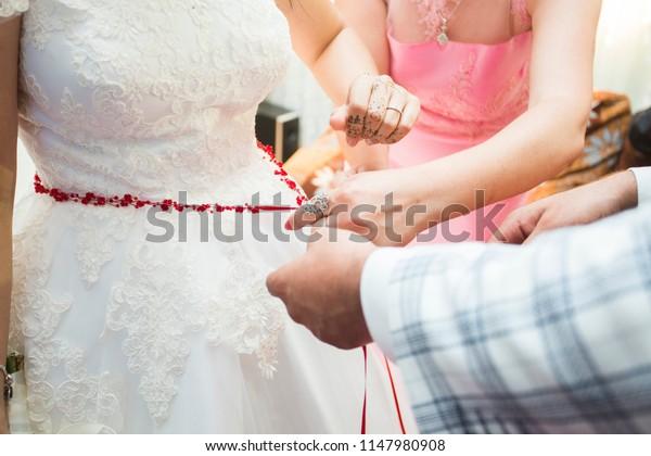 Wedding Dress Wedding Rings Wedding Bouquet Stock Photo Edit Now