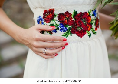 wedding dress in Ukrainian style