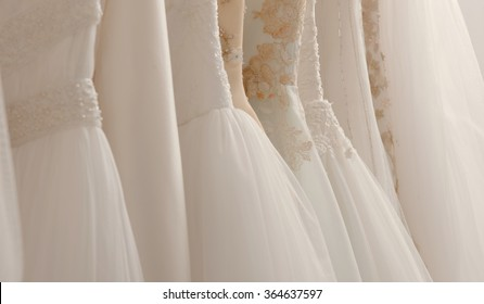 Wedding dresses in detail