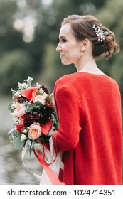 Wedding in the European style in the studio and on the streetStudio in Scandinavian style