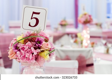 wedding or event, flower on table