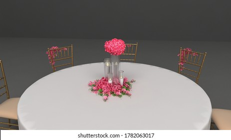 wedding event round bate arrangement  - Shutterstock ID 1782063017