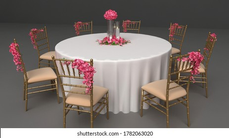 wedding event round bate arrangement  - Shutterstock ID 1782063020