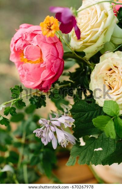 Wedding Floral Design Arts Crafts Decoration Stock Photo Edit Now 670267978