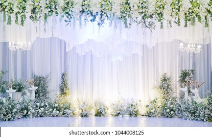 wedding flower decoration, flower backdrop background, rose wall, white rose