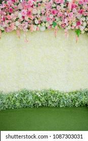 wedding flower decoration, flower backdrop background, rose wall,  colorful background, fresh rose