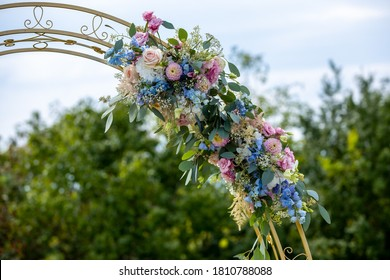 Wedding flower decoration in front of a soft background