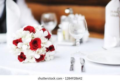 Wedding flowers bouquet - close up