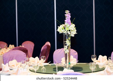 Wedding Flowers on the dinner table