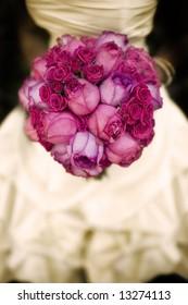 wedding flowers - sepia