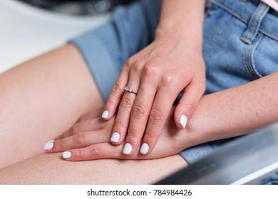 wedding french manicure girl