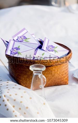 Wedding Gifts Tray Wedding Reception Stock Photo Edit Now