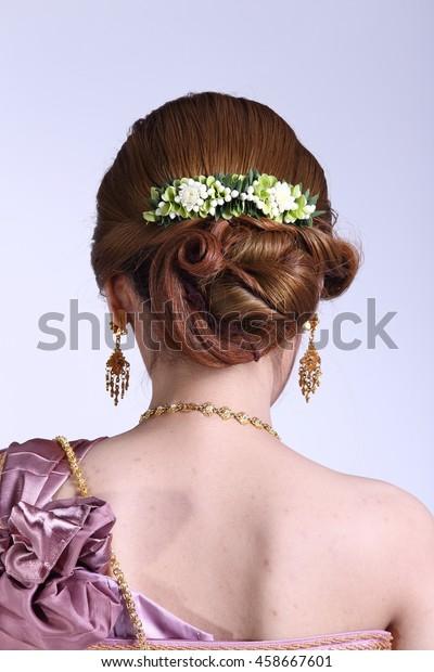 Wedding Hair Style Dresser Thai Local Stock Photo Edit Now
