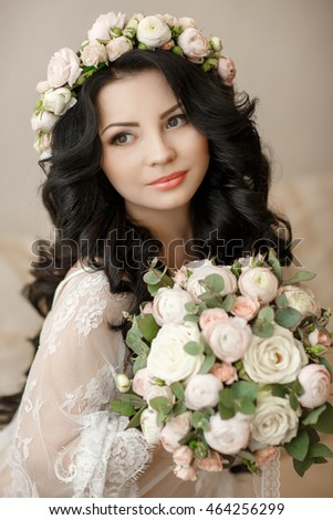 Wedding Hairstyle Makeup Beautiful Young Bride Stock Photo Edit Now