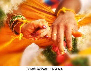 wedding hands in India marriage