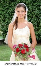 wedding: happy young bride