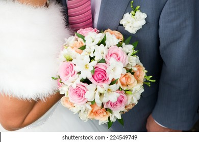 Wedding image of bride and groom.
