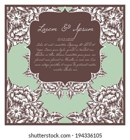 Wedding invitation cards with floral elements.Wedding invitation cards with floral elements.