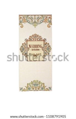 Wedding Invitations Cards Close On Write Stock Photo Edit