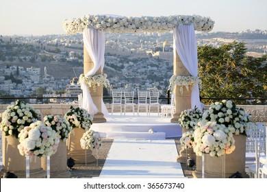 Wedding. Jewish wedding in Jerusalem .