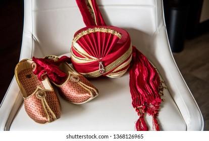 Wedding Khussa and wedding turban