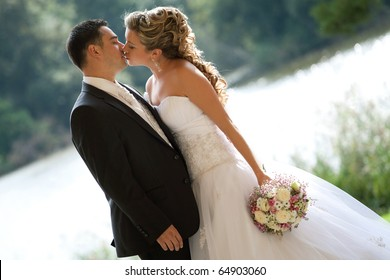 wedding kiss