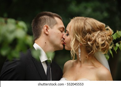 Wedding kiss images stock photos vectors shutterstock wedding kiss close up portrait of young kissing bride and groom junglespirit Images