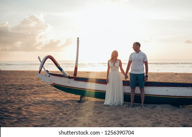 Wedding man and woman on the beach