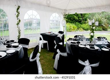 wedding Marque tables