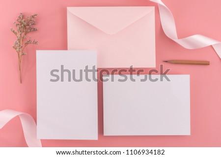 wedding mock concept wedding invitation envelopes stock photo edit