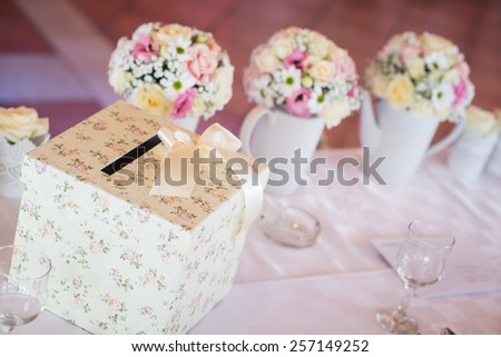 Wedding Money Box Wedding Envelope Box Stock Photo (Edit Now ...
