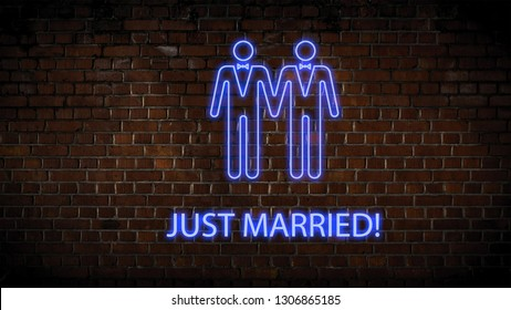 Wedding neon sign men