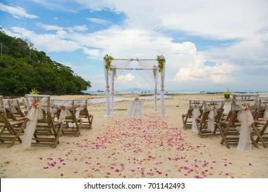 Wedding on the beach in Bali.